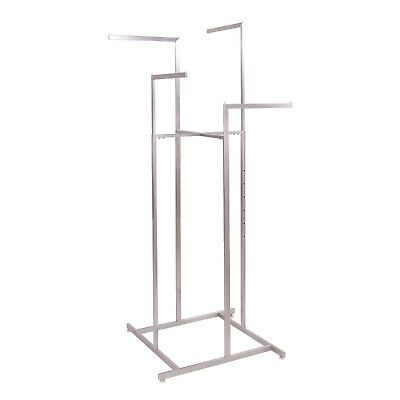 Satin Nickel 4-way Rack With Straight Arms