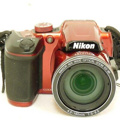 Nikon Coolpix B500 16MP Digital Camera Red 26508