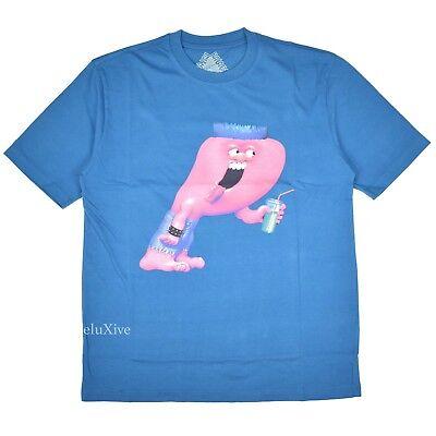 4033b3e78d271d  146.41 - NWT Palace Skateboards Men s Blue P-Logo Burb Crewneck T-Shirt L  FW18 AUTHENTIC