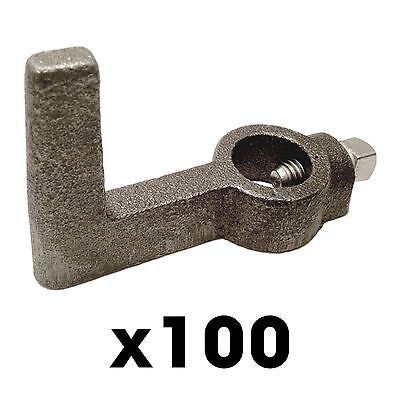 100 2x4 Single Screed Hooks - Concrete Forms Screed Post Slab Curb Patio Inch