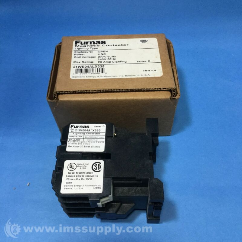 FURNAS ELECTRIC CO 21WE04ALX335 MAGNETIC CONTACTOR, 20 AMP FNOB