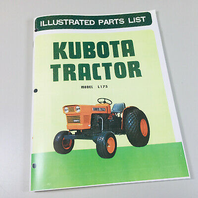 Kubota L175 Tractor Parts Assembly Manual Catalog
