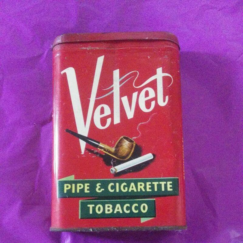 Vintage Liggett & Myers Tobacco Co. Velvet Pipe And Cigarette Tobacco Pocket Tin