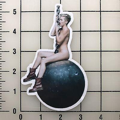 Miley Cyrus Wrecking Ball 5  Tall Multi Color Vinyl Decal Sticker   Bogo