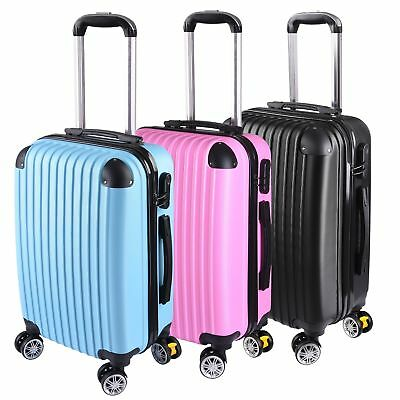 "20"" Travel Luggage Carry On Bag Trolley Fashion Suitcase ABS"