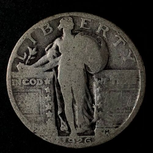 1926 UNITED STATES SILVER STANDING LIBERTY QUARTER - GOOD