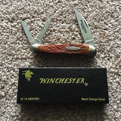 "WINCHESTER Serpentine Whittler (3 Blade) 3-5/8"" Folding Knife #W15-39097BO (NIB)"