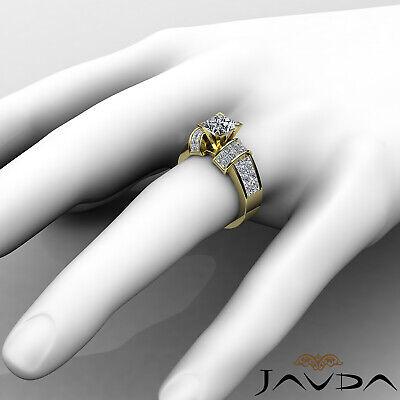 4 Prong Invisible Setting Princess Cut Diamond Engagement Ring GIA I VS2 2.96Ct 7