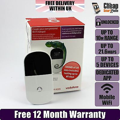 Vodafone R205 3G Mobile Broadband WIFI Hotspot Modem Wireless Internet Dongle