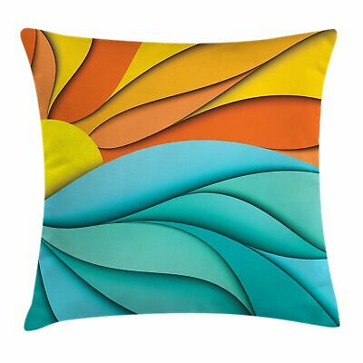 sun throw pillow cushion cover abstract sunset