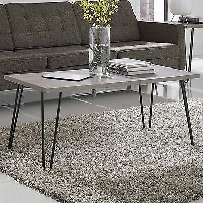 تربيزه جديد Coffee Table Modern Wood Top Living Room Furniture Cocktail Hairpin Metal Legs
