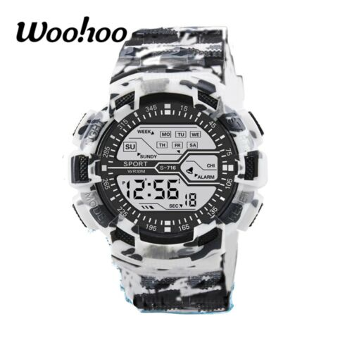 Camouflage Men Sport Watch New Brand Military LED Tactical Digital FREE SHIPPING