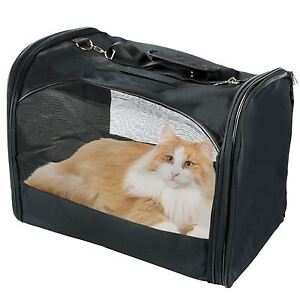 Folding Portable Small Pet Dog Cat Carrier Mesh Fabric Canvas Travel Bag Crate