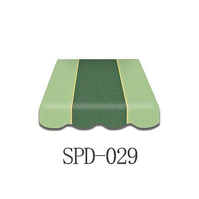Markisenstoff  Markisenbespannung Ersatzstoff PLUS Volant 4 x 2,5 m NEU SPD-029