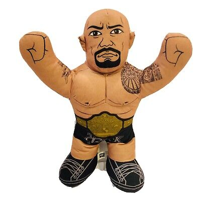 "The Rock Talking Brawlin Buddies Plush Stuffed Action Sports Doll 2012 16"" WWE"