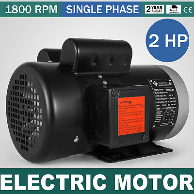 Electric Motor 2 Hp 1 Phase 1800rpm Tefc 58shaft Waterproof 115230v 60 Hz