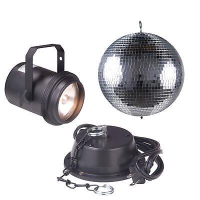 "American DJ M-600L 16"" In Glass Mirror Disco Ball + Motor + Pinspot Pack"