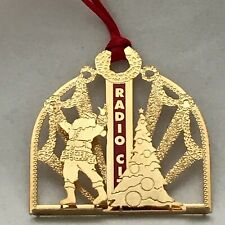 Radio City Music Hall Christmas Gold-Tone Ornament Santa ...