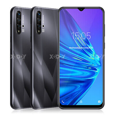 "6.6"" Unlocked New Android 9.0 Cell Phone Smartphone Dual SIM Phablet Full Screen"