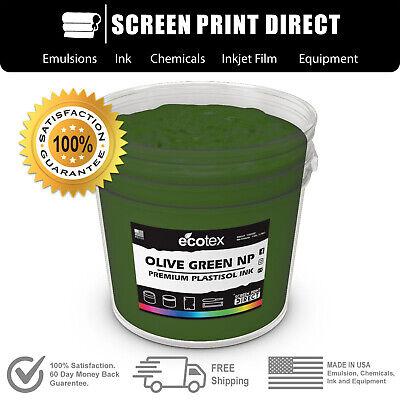Ecotex Olive Green - Premium Plastisol Ink For Screen Printing - 8oz