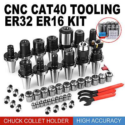 Cat 40 Tooling Kit For Haas Cnc Milling Chuck Collet Holder Spanner Er32 Er16