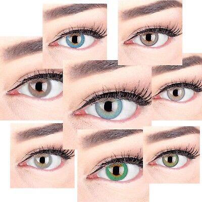 Farbige Kontaktlinsen mit ohne Stärke blau grün braun - Grüne Farbige Kontaktlinsen
