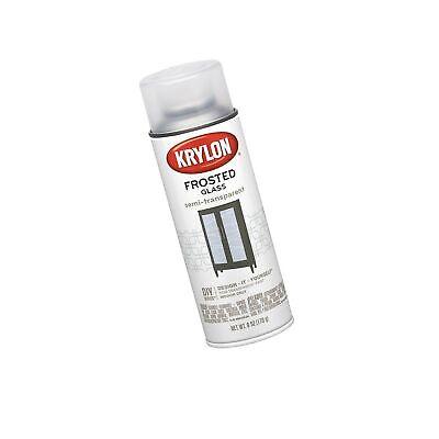 Krylon K09040 Frosted Glass Finish Glass Paints Aerosol, White Finish, 6 Ounce
