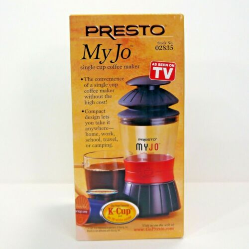 Presto MyJo 1-Cup Coffeemaker Black/Red 02835