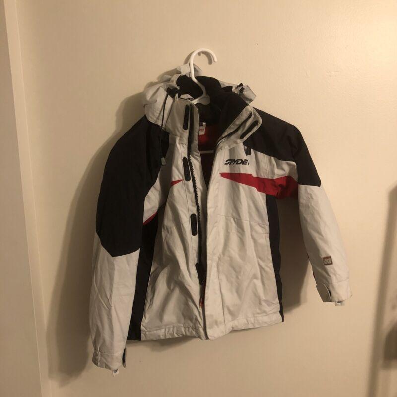 Spyder Boys Size 8 Winter Ski Jacket Coat Stowaway Hood Fast Shipping