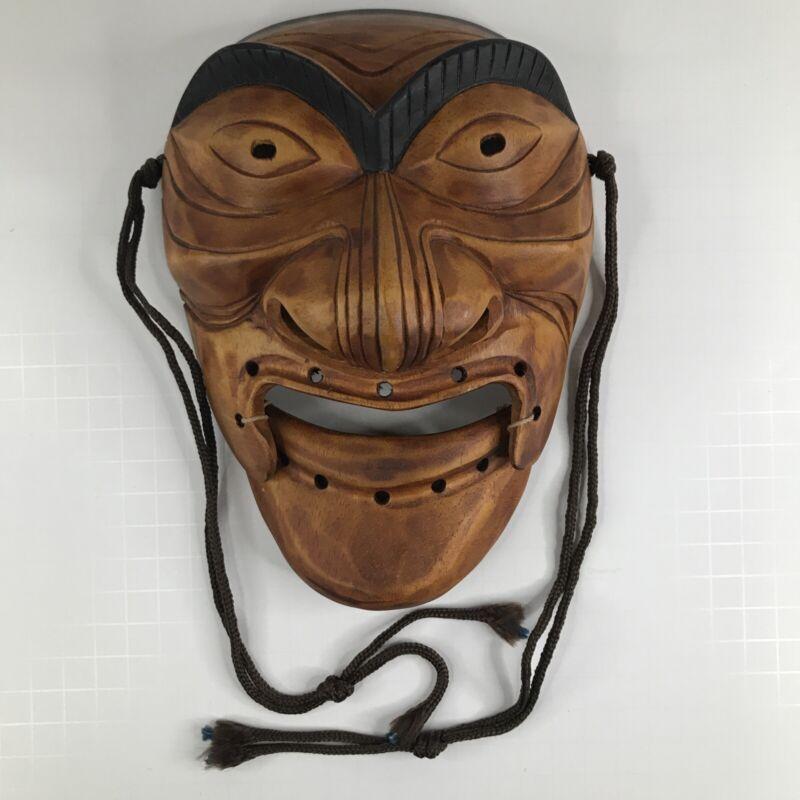 Vtg. Korean time-honored traditional Hahoe Mask - Sonbi (the pedantic scholar)