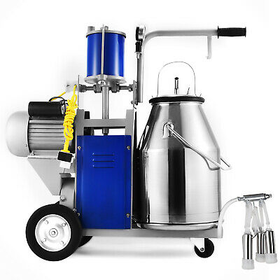 Electric Milking Machine For Farm Cows W304 Stainless Steel Bucket Cow Milker