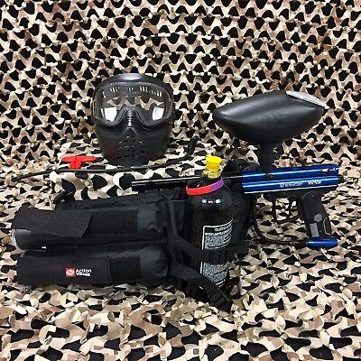 NEW Kingman Spyder Victor EPIC Paintball Marker Gun Package Kit - Gloss Blue