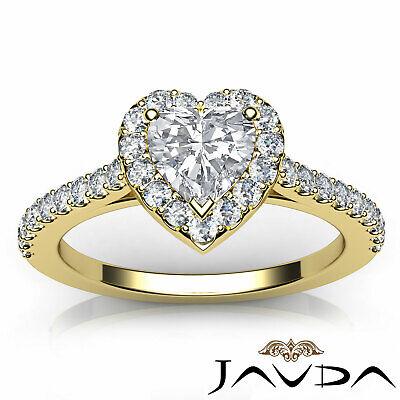 Halo U Cut Prong Set Heart Shape Diamond Engagement Ring GIA Certified F VS2 1Ct 10