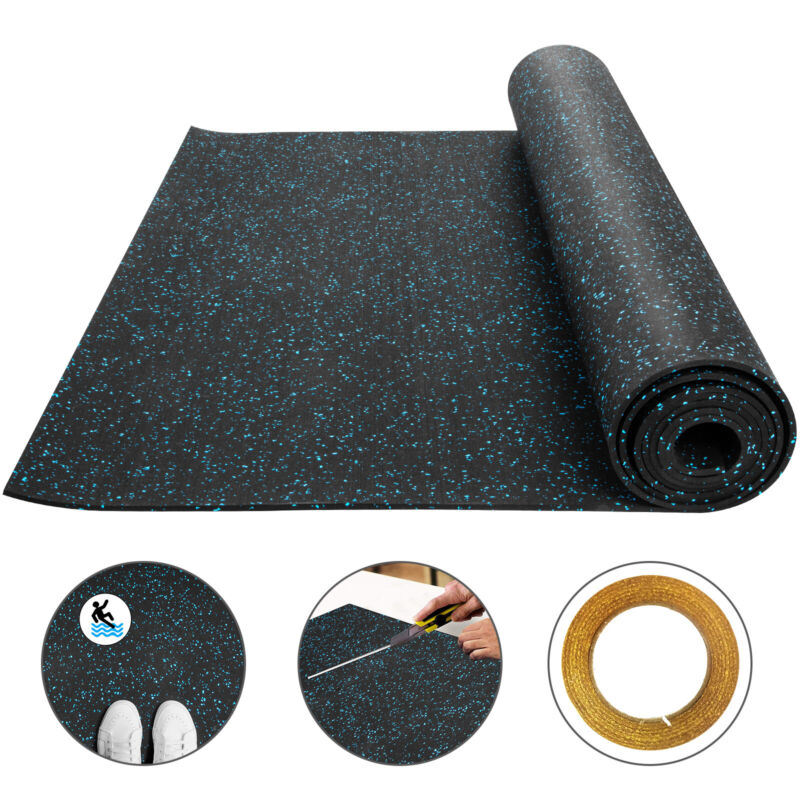 Rolled Rubber Gym Basement Fitness Flooring 4