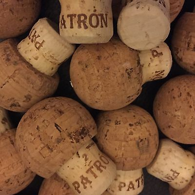 Lot Of 20 Patron Tequila Corks- Sticker Free! Crafts~Corks~750ml Bottle Corks