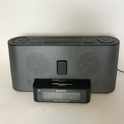Sony Dream Machine AM/FM Alarm Clock Radio 30-pin iPod Dock icf-c1ipmk2
