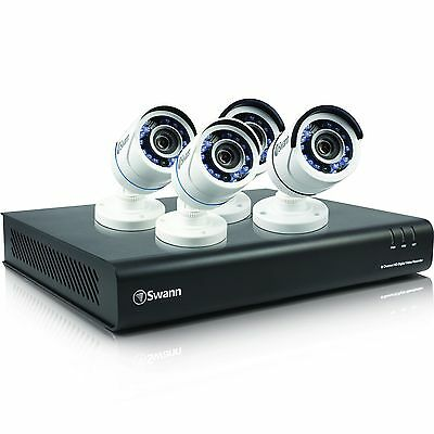 New Swann SODVK-8720P34-US 8 Channel 1080p 1TB Security DVR & 4x 720p Cameras