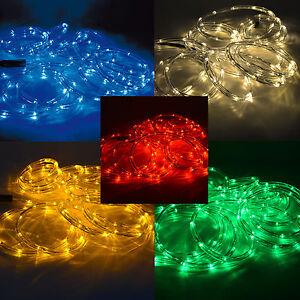 led lichtschlauch lichterschlauch lichterkette led kette innen au en farben ebay. Black Bedroom Furniture Sets. Home Design Ideas