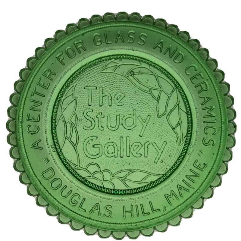 Baldwin ME Douglas Hill Study Gallery Maine Art Memorabilia Pairpoint Cup Plate