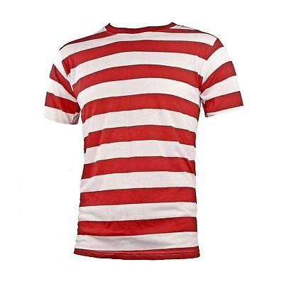 NYC Short Sleeve Punk Goth Emo Mime Striped Cosplay Costume T Shirt S M L XL 2X
