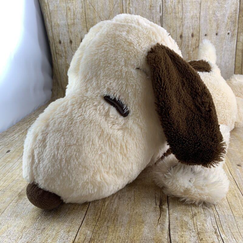 Peanuts Snoopy Plush Stuffed Toy Huggable Soft Floppy 20 Inch Brown Tan 2015