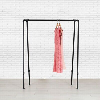Industrial Style Pipe Garment Rack - A-frame By William Roberts Vintage