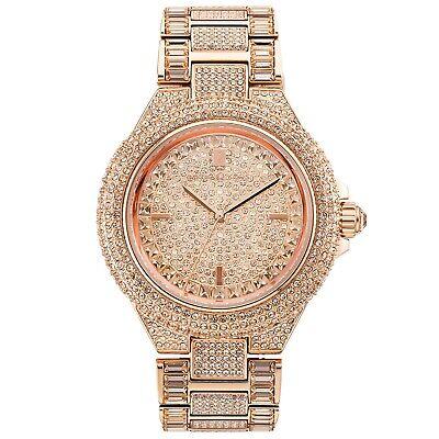 Michael Kors Ladies Camille Watch MK5862 Rose Gold Pave Crystal Strap & Case
