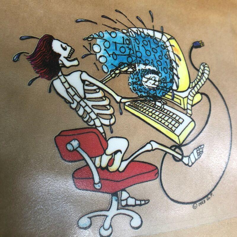 NEW Vintage Grateful Dead Skeleton on Computer 1990