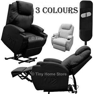 Luxury Leather Electric Rise And Recline Mobility Lift Chair Recliner Armchai