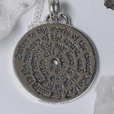 Peter Stone Wicca Witch Hexen Spruchformel Amulett 925Silber Zauberspruch Ritual