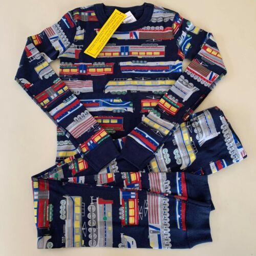 "HANNA ANDERSSON Awesome Boys ""TRAIN"" Pajama Set,  10-12 Years, 150 cm. Comfy!"
