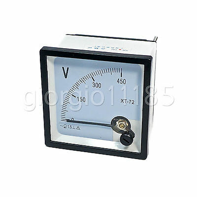 Us Stock Ac 0450v Square Analog Volt Pointer Needle Panel Meter Voltmeter Xt-72