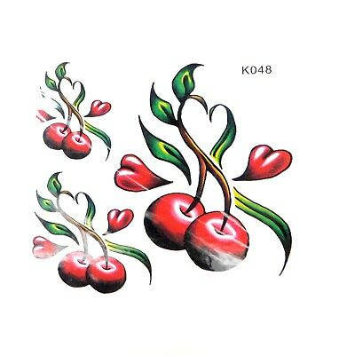 (US SELLER, cherry fruit temporary tattoo female lower back tattoos)