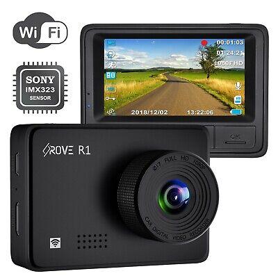 Open Box Rove R1 Dash Cam 1080P Sony IMX323 Sensor Wi-Fi Car Dash Cam 2.45 IPS